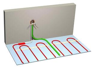 Монтаж нагревательного кабеля в бетонную стяжку