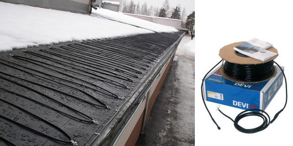 Антиобледенение и снеготаяние c нагревательным кабелем DEVIasphalt™ 30T