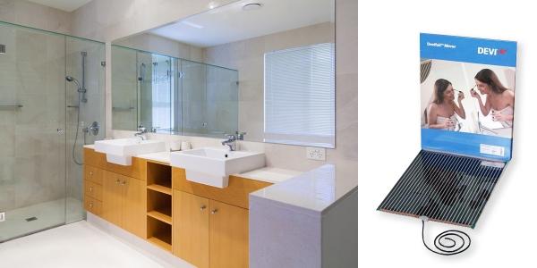 Пленочный мат DEVIfoil™ Mirror для подогрева зеркал в ванной комнате