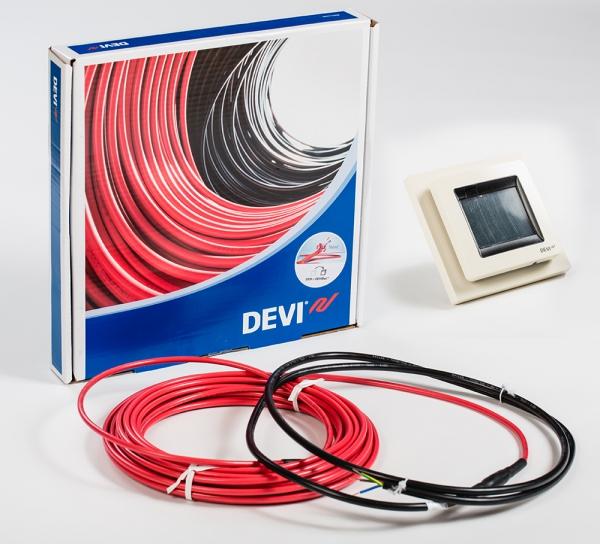 Нагревательный кабель Devi и терморегулятор DEVIreg™ Touch
