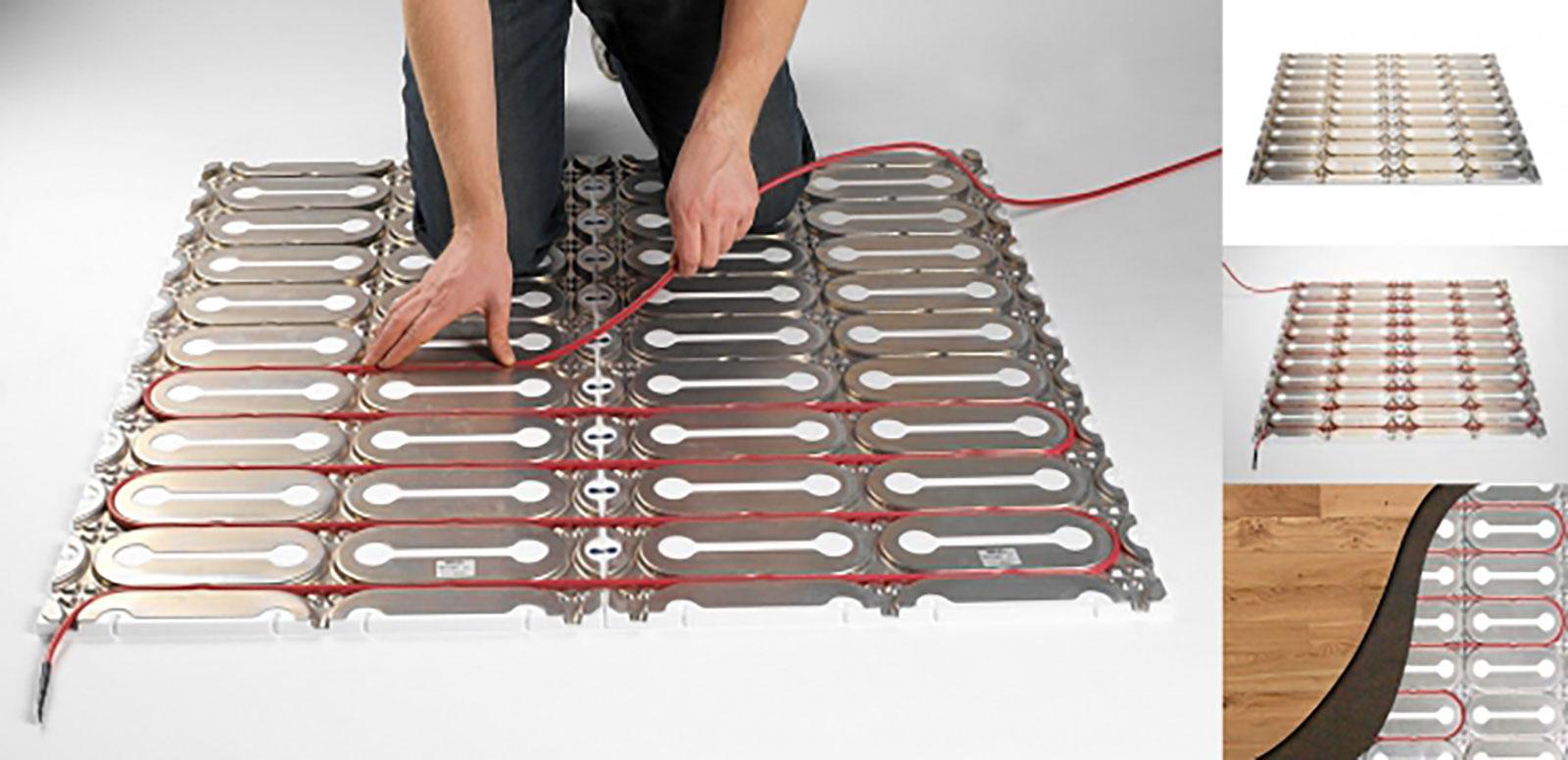 Монтаж нагревательного кабеля в теплоизолирующие пластины DEVIcell Dry
