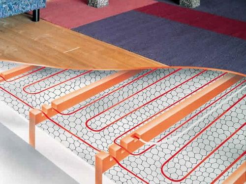 Монтаж нагревательного кабеля в деревянных полах на лагах